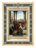 The Wedding at Cana: Turning Water into Wine Giclee Print by Carl Bloch