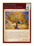 Letter from Vincent: The Mulberry Tree Impressão giclée por Vincent van Gogh