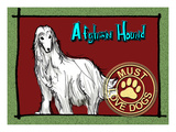 Afghan Hound Giclee Print by Cathy Cute