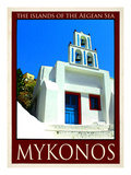 Church in Mykonos Greece 7 Giclee Print by Anna Siena