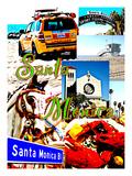 Visit Santa Monica 3 Giclee Print by Victoria Hues