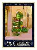 San Gimignano Tuscany 11 Giclee Print by Anna Siena