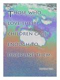 Cathy Cute - Proverbs 13:24 Digitálně vytištěná reprodukce