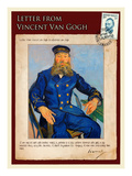 Letter from Vincent: Portrait of the Postman Joseph Roulin Impressão giclée por Vincent van Gogh
