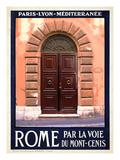 Italian Door, Roma Italy 5 Giclee Print by Anna Siena
