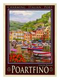 Portfino Italian Riviera 1 Reproduction procédé giclée par Anna Siena
