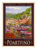 Portfino Italian Riviera 1 Giclee Print by Anna Siena
