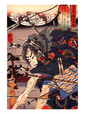 Clearing Water at Horikawa Giclee Print by Kuniyoshi Utagawa