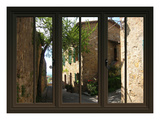 View from the Window at Pienza, Tuscany Giclee Print by Anna Siena