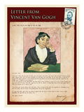 Letter from Vincent: The Portrait of the Arle´Sienne Giclée-tryk af Vincent van Gogh