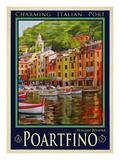 Poartfino Italian Riviera 2 Giclee Print by Anna Siena