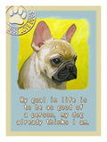Yelloe French Bulldog Giclee Print by Cathy Cute