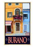 Burano Window, Italy 1 Reproduction procédé giclée par Anna Siena