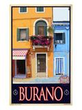 Burano Window, Italy 1 Impression giclée par Anna Siena
