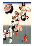 Cats Forming the Characters for Catfish Giclee Print by Kuniyoshi Utagawa