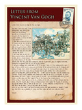 Letter from Vincent: Old Vineyard with Peasant Woman Impressão giclée por Vincent van Gogh