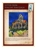 Letter from Vincent: Church at Auvers, C1890 Giclee Print by Vincent van Gogh