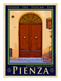 Door in Pienza Tuscany 7 Giclee Print by Anna Siena