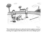 """Not to diminish what you've achieved in the last eighteen months of train…"" - New Yorker Cartoon Premium Giclee Print by Zachary Kanin"