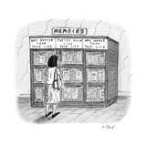 A woman stands in front of a bookshelf of memoirs in a bookstore.  - New Yorker Cartoon Premium Giclee Print by Roz Chast