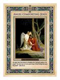 Gethsemane: Engel trøster Jesus Giclée-tryk af Carl Bloch