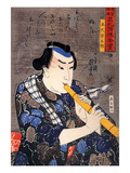Half Legth Portrait of Goshaku Somegoro Giclee Print by Kuniyoshi Utagawa