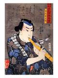 Half Legth Portrait of Goshaku Somegoro Giclee Print by Kuniyoshi Utagawa