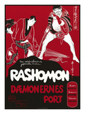 Japanese Movie Poster - Rashomon in Norway Impression giclée