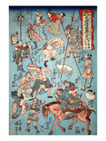 100 Worrar of Suikoden Giclee Print by Kuniyoshi Utagawa