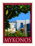 Back Yard in Mykonos Greece 5 Giclee Print by Anna Siena