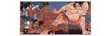 Wrestling Sumo Giclee Print by Kuniyoshi Utagawa