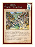 Letter from Vincent: Les Peiroulets Ravine Giclee Print by Vincent van Gogh