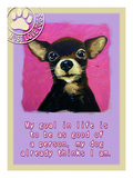 Pink Chihuahua Giclee Print by Cathy Cute