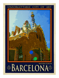 Barcelona Spain 2 Giclee Print by Anna Siena