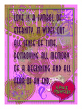 Love Is a Symbol of Eternity Giclee Print by Cathy Cute