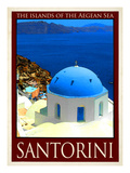 Santorini Greece 2 Giclée-tryk af Anna Siena