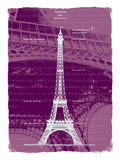 White Eiffel Tower Paris in Rosy Giclee Print by Victoria Hues