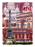 Paris France 6 Giclee Print by Victoria Hues