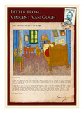 Letter from Vincent: Vincent's Bedroom in Arles Impressão giclée por Vincent van Gogh