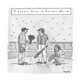 """Welcome to the big leagues.""  - New Yorker Cartoon Premium Giclee Print by Kim Warp"