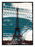 Eiffel Tower Paris in Green Giclee Print by Victoria Hues