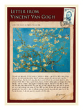 Letter from Vincent: Almond Blossom, C1890 Lmina gicle por Vincent van Gogh