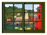 View from the Window Vernazza at Cinque Terre Giclee Print by Anna Siena