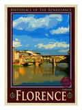 Ponte Vecchio, Florence Italy 1 Reproduction procédé giclée par Anna Siena