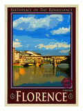 Ponte Vecchio, Florence Italy 1 Lmina gicle por Anna Siena