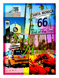 Visit Rainbow Santa Monica 5 Giclee Print by Victoria Hues