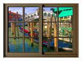 View from the Window Rialto Bridge at Venice Giclee Print by Anna Siena
