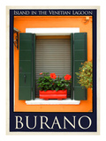 Burano Window, Italy 16 Giclee Print by Anna Siena