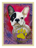 Pink French Bulldog Giclee Print by Cathy Cute