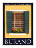 Burano Window, Italy 24 Giclee Print by Anna Siena